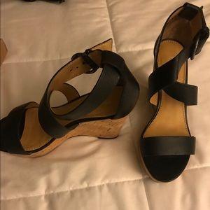 Franco  Sarto wedge cross sandal